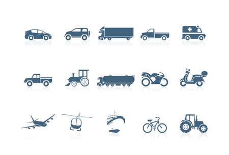 ambulancia: Iconos de transporte | serie piccolo  Vectores