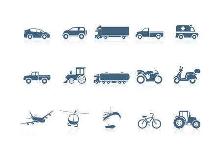 Transportation icons | piccolo series Stock Vector - 7516983