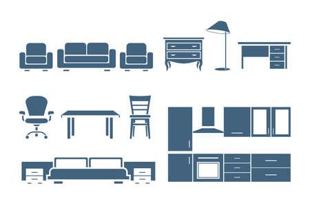 mobilier bureau: Ic�nes de meubles