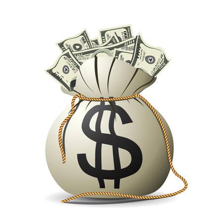 Geld Tasche Vektor  Illustration