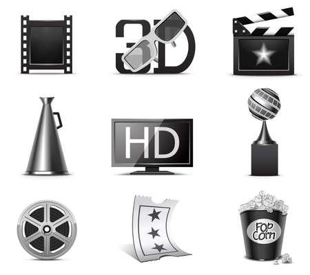 megaphone icon: Movie icons | B&W series