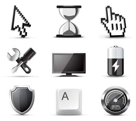 Computer icons | B&W series Vector