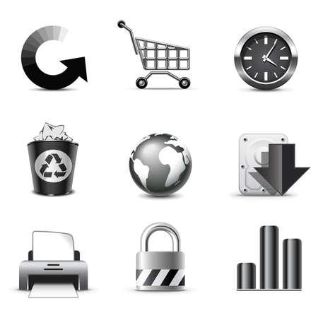 bw: Web icons | B&W series Illustration