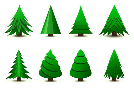 pine decoration: Christmas trees