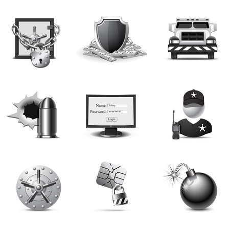 Bank security | B&W series Stock Vector - 8325679