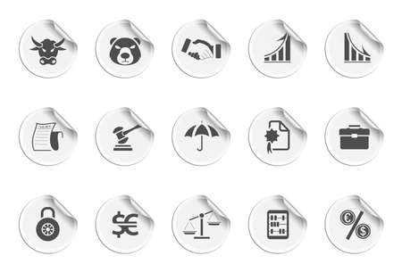 shake hand: Finance icons | Sticky series