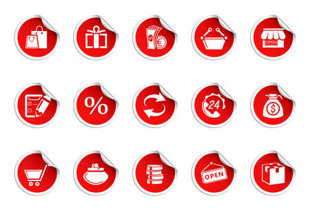 Shopping icons | Sticky series Vector