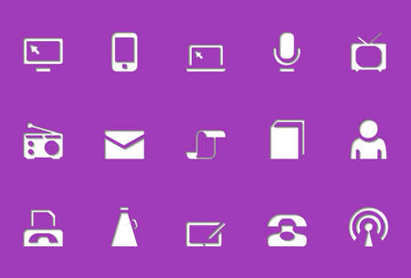 Communication icons | Die Cut series Stock Vector - 8499053