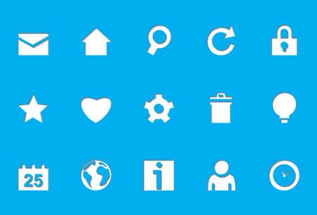 Internet icons   Die Cut series Stock Vector - 8499050