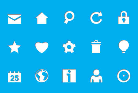 Internet icons | Die Cut series Stock Vector - 8499050