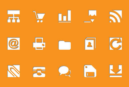 Web icons | Die Cut series Stock Vector - 8499049