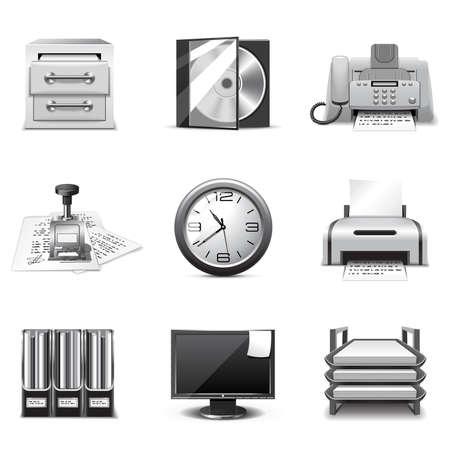 Office icons | B&W series Illustration