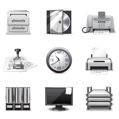 Office icons | B&W series Vector
