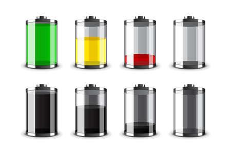 levels: Batterijen Stock Illustratie