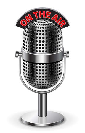 vintage mic: On the air microphone