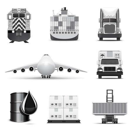 air freight: Logistiche Icone 1   Serie B&W