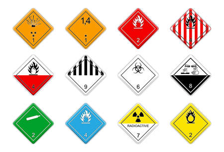 Logistic hazardous signs Vector