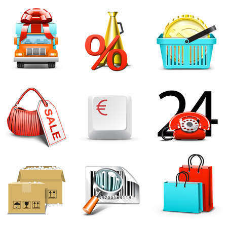 shopping cart icon: Shopping icons | Bella series, part 1