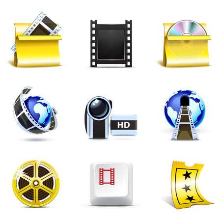 Movie icons | Bella series Stock Vector - 8876663
