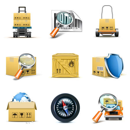 Delivering and shipping icons | Bella series Vector