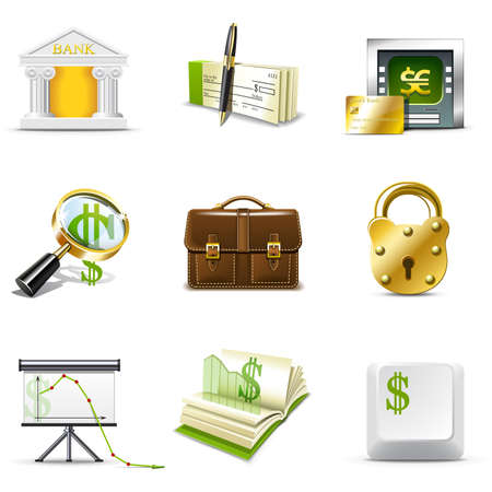 Bank icons | Bella series Vector