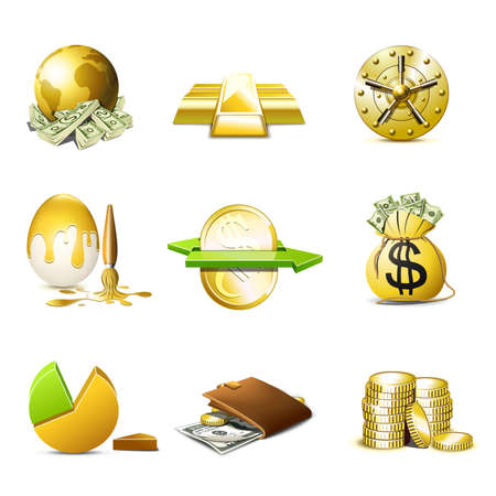 Bag of gold coins: Money and finance icons | Bella series