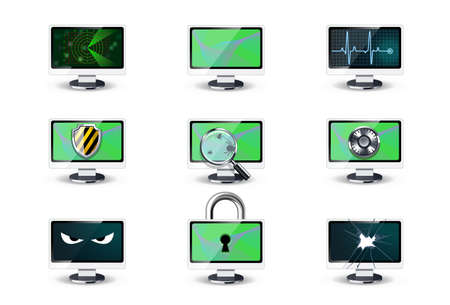 Computer security concepts Stock Vector - 9134934