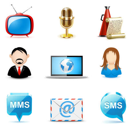 Social and communication icons | Bella series Stock Vector - 9605784