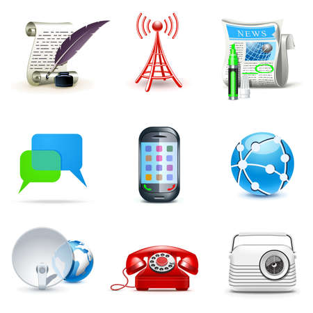 Communication icons | Bella series Stock Vector - 9605782