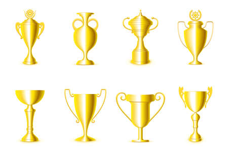 gold cup: Award cups Illustration