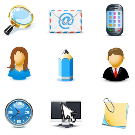 web icons communication: Internet and web icons | Bella series, part 3
