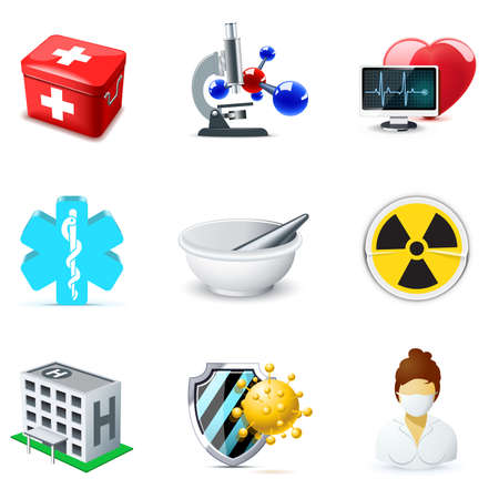 spital ger�te: Medizin und Gesundheit-Ikonen   Bella-Serie 2