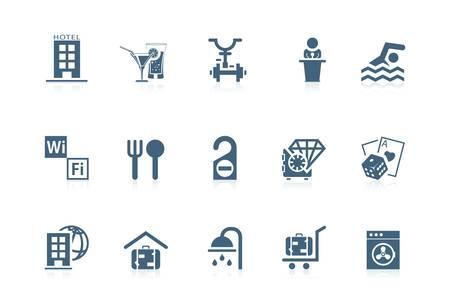 hotel building: Hotel serivce icons   Piccolo series