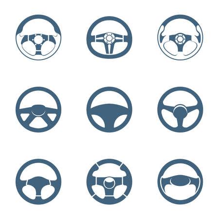 ruedas de coche: Formas de volante Vectores