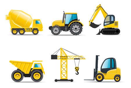 autom�vil caricatura: M�quinas de construcci�n | Bella serie