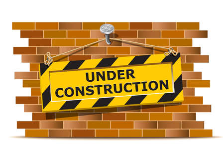 Under construction wall Vector