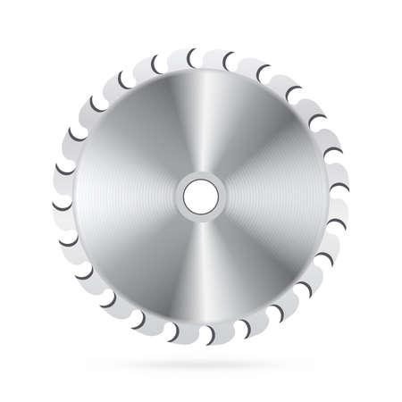 cutting blade: Hoja de Sierra circular Vectores