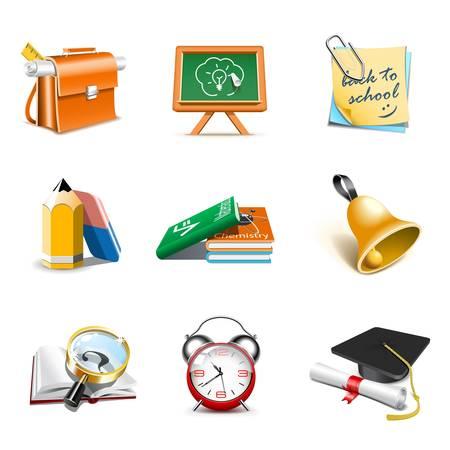 iconos educacion: Los iconos de la escuela | Bella serie, parte 1 Vectores