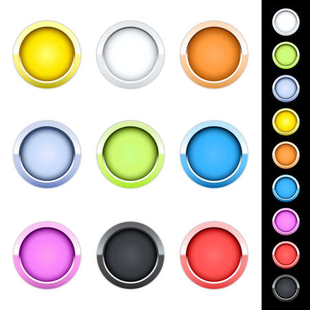 Glossy buttons Stock Vector - 10337628