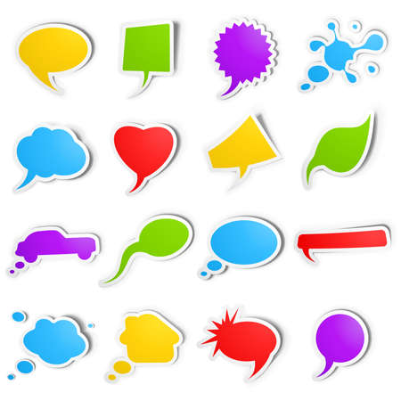 Bubble speech stickers Stock Vector - 10337632