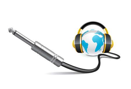 casque audio: Symbole de la musique Illustration