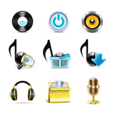 pictogrammes musique: Les ic�nes de musique | S�rie de Bella Illustration