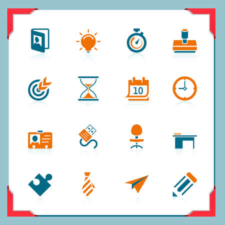 bulb icon: Business and office icons | In a frame series