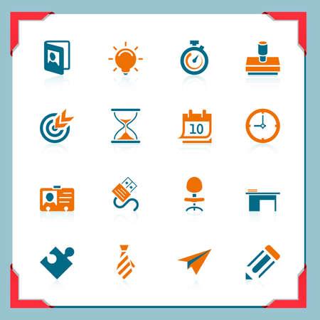idee gl�hbirne: Business-und Office-Symbole | In einem Frame Serie