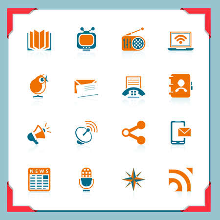 web icons communication: Communication icons | In a frame series