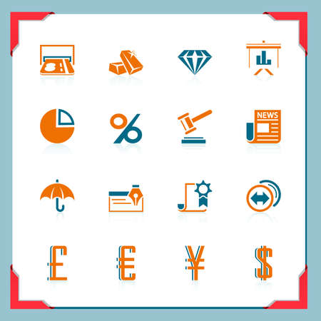 Bid: Financial icons   In a frame series