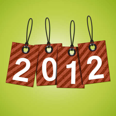 New 2012 year tags  Stock Vector - 11111485