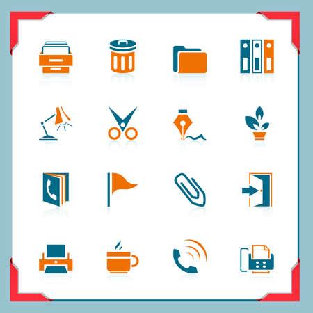 puerta abierta: Iconos de Oficina   En una serie marco