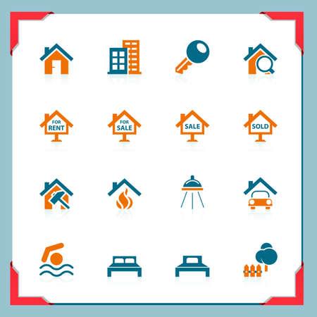 roof line: Iconos de bienes ra�ces | En el marco de una serie