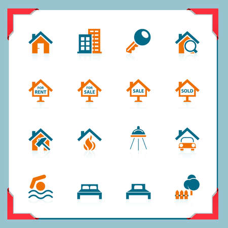 Real estate icons | In a frame series Stock Vector - 11111480
